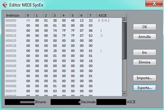 Messaggi midi: Sys Ex System Exclusive il dialetto del midi e altri messaggi