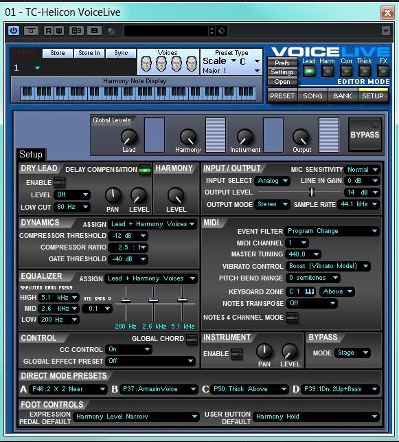 VOICE LIVE PAGINA DI SETUP EDITOR_SYS EX