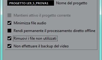 schermata backup di progetto